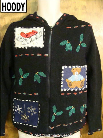 Ugly Christmas Sweater Hoody with Ivy