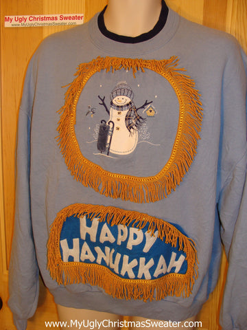 Funny Hanukkah Sweatshirt for Holiday Party