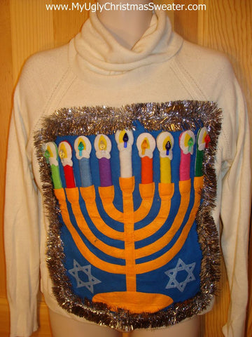 Hanukkah Sweater Ugly Tacky 'Happy Hanukkah' Sweater Party Winner