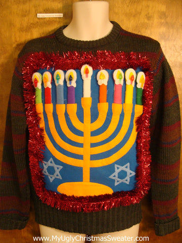Hanukkah Sweater Pullover with Garland