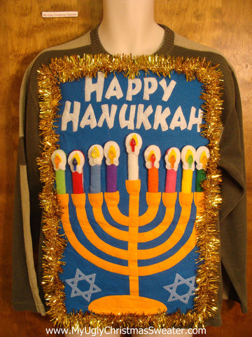 Tacky Happy Hanukkah Sweater Pullover