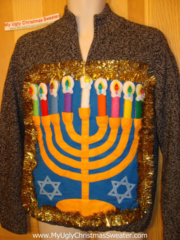 Hanukkah Sweater Giant Menorah (j83)