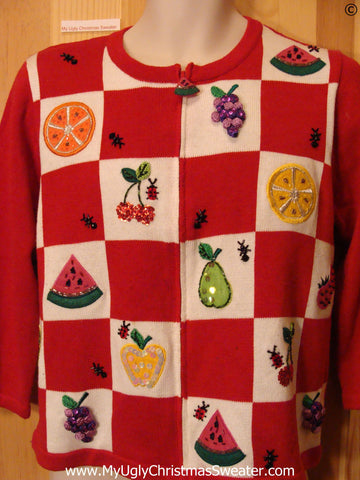 Fruit Themed Tacky Ugly Year Round Sweater