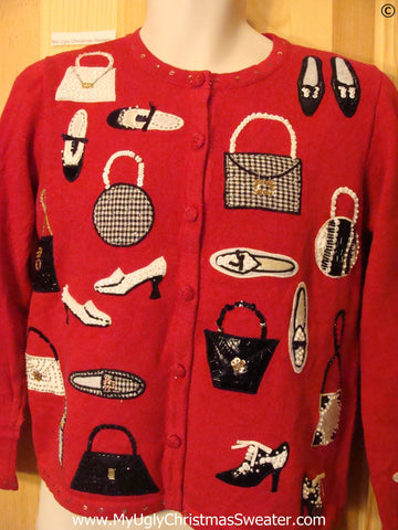 Shoe Themed Tacky Ugly Year Round Sweater