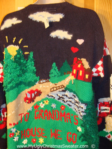 Tacky Ugly Year Round Sweater 80s Holiday at Grandmas House