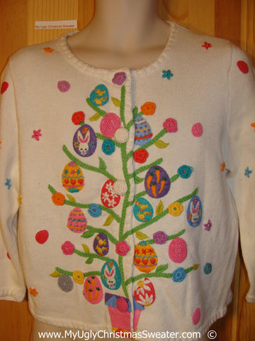 Tacky Easter Eggs Year Round Sweater
