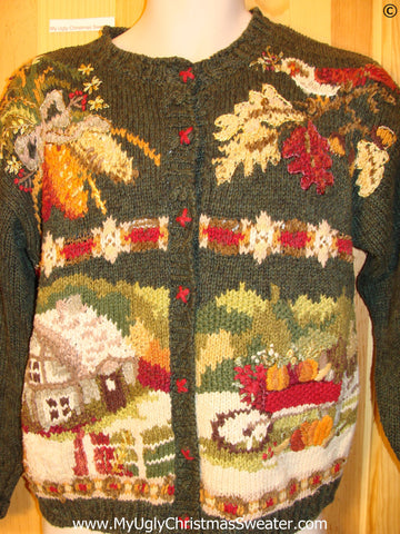 Tacky Ugly Year Round Sweater Fall Autumn Thanksgiving