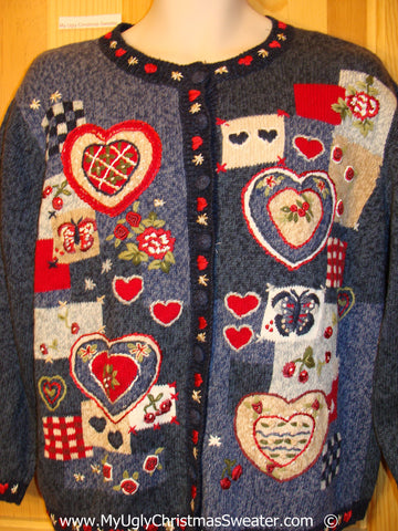 Tacky Ugly Year Round Sweater Hearts Valentines