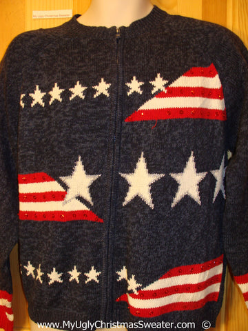 Patriotic 4th of July Tacky Ugly Year Round Sweater