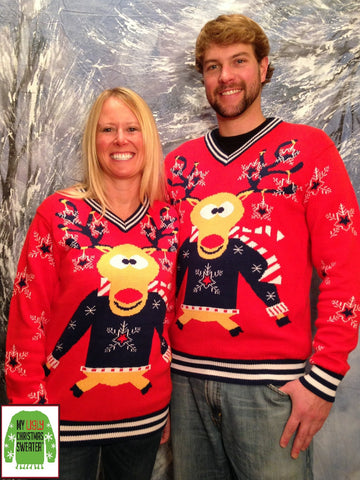 Funny Reindeer Christmas Sweater