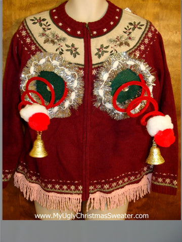 Nordic Crazy Naughty Ugly Christmas Sweater with Funny Trim