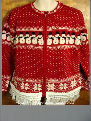 Nordic Snowmen and Snowflakes Ugly Christmas Jumper