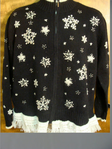 Snowflakes Falling Ugly Xmas Sweater