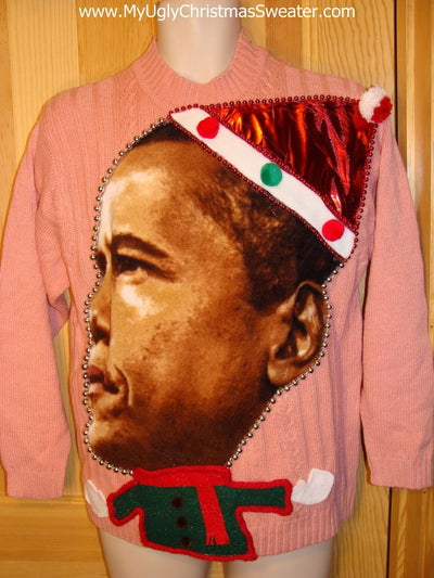 obama christmas sweater