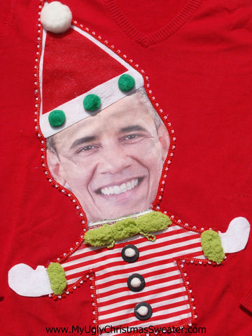 President Obama Christmas Sweater