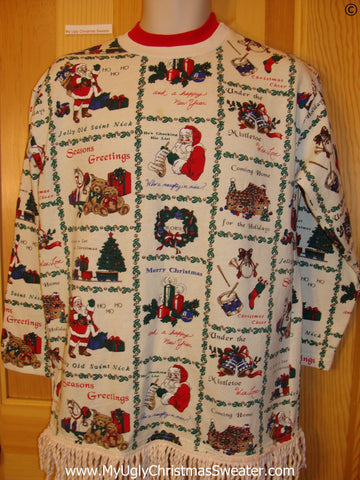 Tacky Christmas Sweatshirt 2sided Horrible Designs