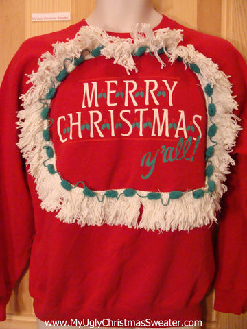 Southern XMAS Sweatshirt MERRY CHRISTMAS Y'ALL