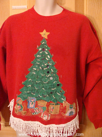 Cheap Christmas Sweatshirt Homemade Tree Gifts Frine