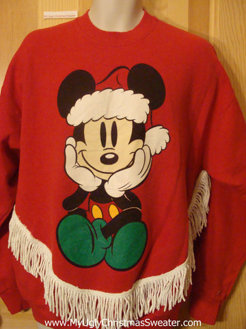 Tacky Christmas Sweatshirt Disney Mickey Mouse