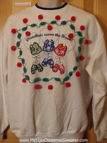 Tacky Cheap Christmas Sweatshirt Grandma