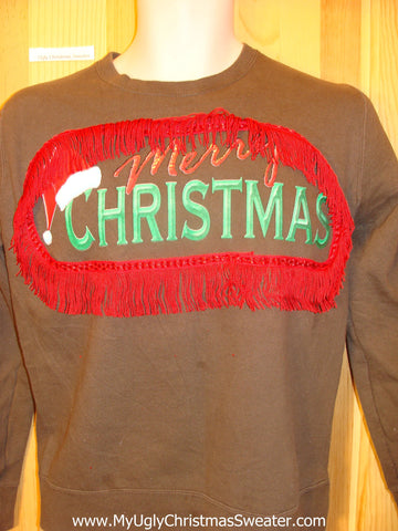 Tacky Christmas Sweatshirt Merry Christmas
