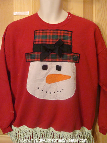 Tacky Christmas Sweatshirt Amazing Homemade Snowman