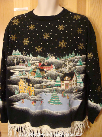 Awesome Winter Wonderland Vintage Tacky Christmas Sweatshirt