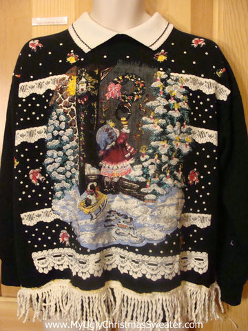 Tacky Christmas Sweatshirt Vintage 80s Best of the Best