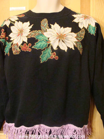 Homemade Mess Poinsettias Tacky Christmas Sweatshirt