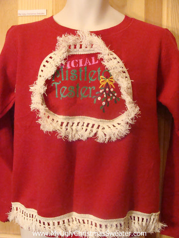Official Mistletoe Tester Tacky Christmas Sweatshirt