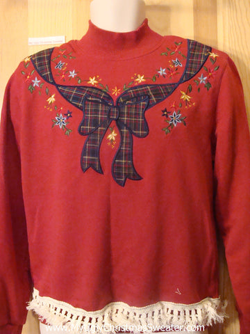 Cheap Crafty Tacky Christmas Sweatshirt