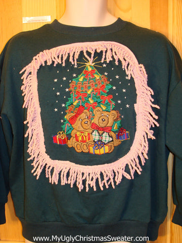 Confused Bears and a Tree Tacky Christmas Sweatshirt