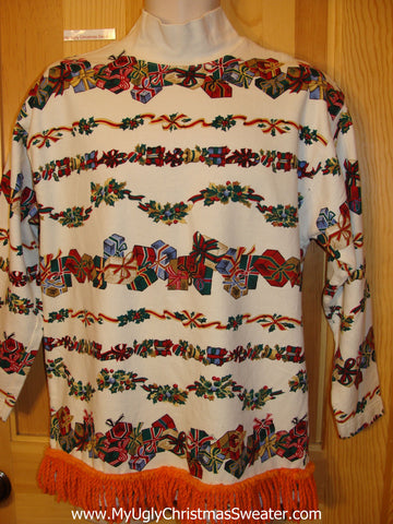 Tacky Christmas Sweatshirt 2sided Horrific Design