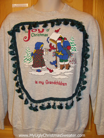 Tacky Christmas Sweatshirt for Grandma