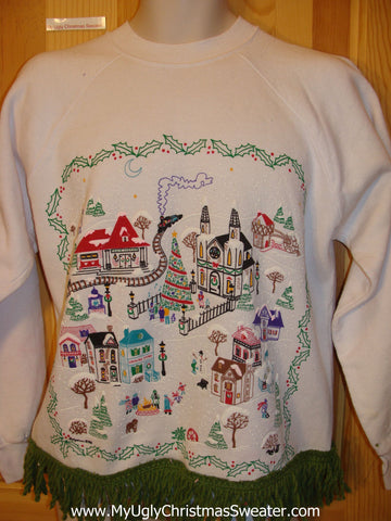 Tacky Christmas Sweatshirt Old Time Town Center