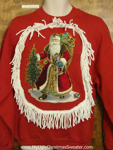 Tacky Christmas Sweatshirt 80s St. Nicholas Home Crafted