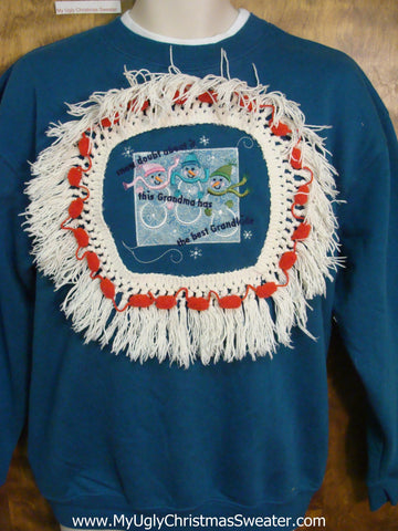 Tacky Christmas Sweatshirt Grandma Grandmother Gift