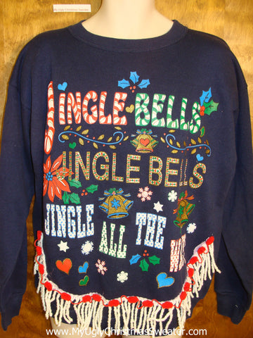 Tacky Christmas Sweatshirt Jingle Bells