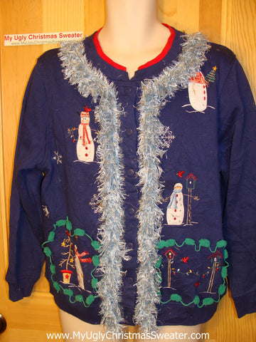 Ugly Christmas Tacky Sweatshirt with Fringe (q3)