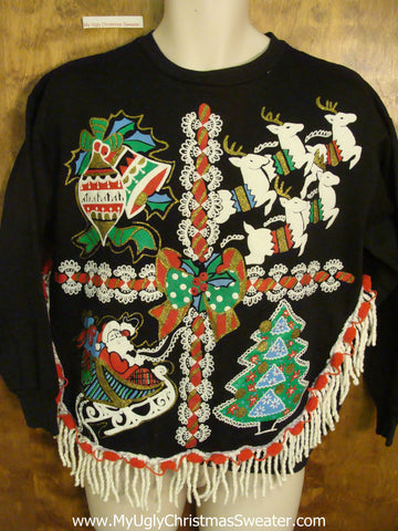 Horrible 80s Retro Funny Novelty Christmas Sweatshirt