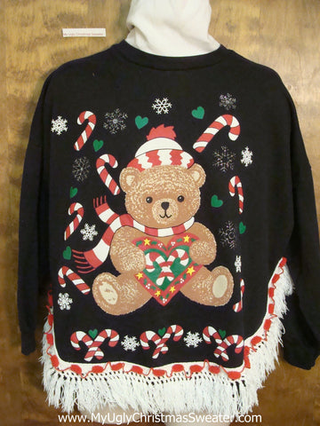 BEST 80s Tacky Bear Funny Ugly Christmas Sweatshirt