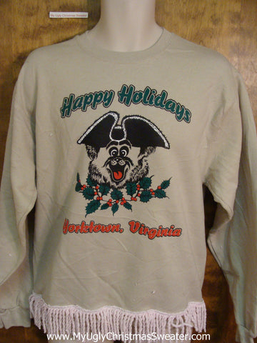 Horrible Tacky HAPPY HOLIDAYS Funny Novelty Christmas Sweatshirt