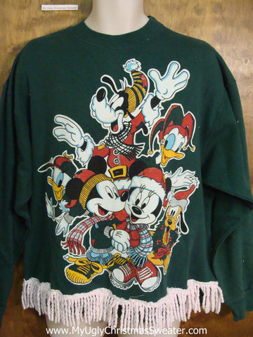 Disney Friends Tacky 80s Funny Novelty Christmas Sweatshirt