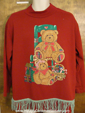 Retro 80s Holiday Bears Funny Novelty Christmas Sweatshirt