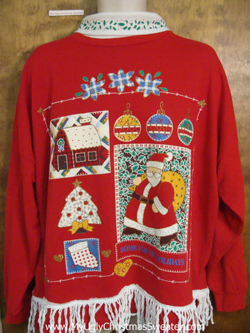 Horrible 80s Tacky Funny Novelty Christmas Sweatshirt