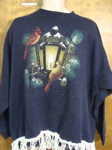 Horrible 80s Birds and Streetlight Funny Novelty Christmas Sweatshirt
