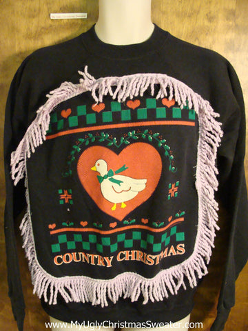 Redneck COUNTRY CHRISTMAS Funny 80s Holiday Sweatshirt
