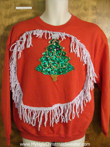 Cheap Bling Tree Funny Christmas Sweatshirt