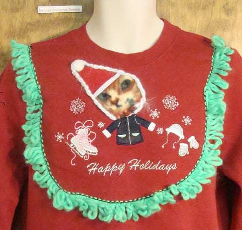Best Santa Cat Horrible Tacky Christmas Sweatshirt