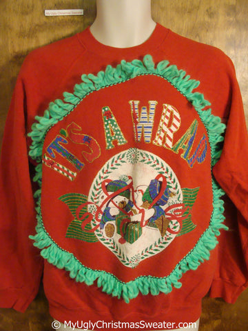 It's a Wrap 80s Tacky Christmas Sweatshirt